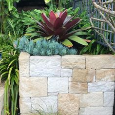 We use stone walls a lot in our gardens The