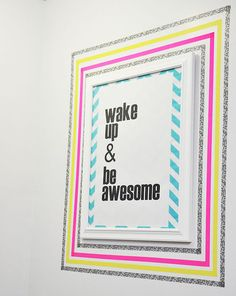 Moving into a dorm (or an apartment for that matter) doesn't mean you have to live with the boring walls. Washi tape is the best friend of decor commitment-phobes  everywhere. So grab your washi tape and take some inspiration from these fab DIYers!Geometric HeartGlam up your study area with this eas...