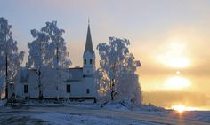 Another view of Udnes Parish Church, Nes, Norway