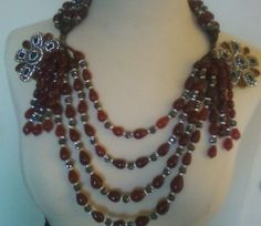 900 Carat Ruby Emerald and Hematite Statement Necklace.