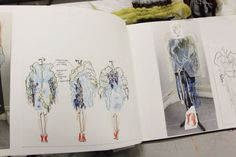 The Next Generation at Central Saint Martins - 1 Granary Sketchbook Layout, Textiles Sketchbook, Fashion Design Sketchbook, Fashion Design Portfolio, Sketchbook Inspiration, Fashion Sketches, Fashion Illustrations, Collages, Fashion Communication