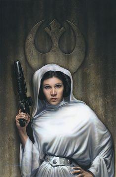 Princess Leia by jerry Vanderstelt of Vanderstelt Studio