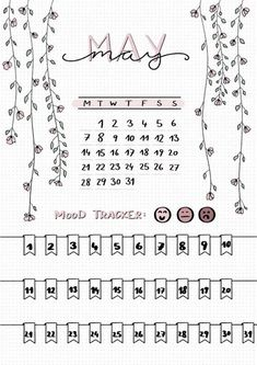 The monthly idea may be a bullet for the Mood Tracker - . - The monthly idea may be a bullet for the Mood Tracker – point Bullet Journal Page, Bullet Journal Tracker, Bullet Journal Notebook, Bullet Journal Inspiration, Journal Art, Journal Prompts, Bullet Journal 2019 Calendar, Bullet Journal Legend, Bullet Journal Design Ideas