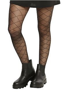 Cross your tights and hope to die? // Blackheart Sheer Crisscross Tights