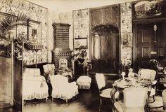 gróf Keglevich Gyula kastélyának nagyszalonja. A felvétel 1895-1899 között készült. A kép forrását kérjük így adja meg: Fortepan / Budapest Főváros Levéltára. Levéltári jelzet: HU.BFL.XV.19.d.1.12.053