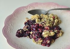 Blackberry Lemon Crumble