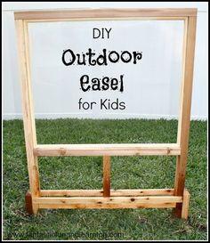 @: DIY Outdoor Easel for Kids