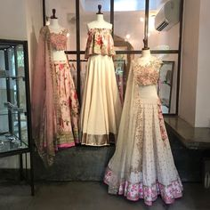 Attending Sangeet Soon? Shop These Inspired Hand Work Lehenga Cholis By Aynaa 👗 Indian Skirt, Indian Dresses, Indian Outfits, Indian Clothes, Indian Fashion Modern, Colorful Fashion, Indian Bridal Wear, Indian Wear, Lehenga Designs