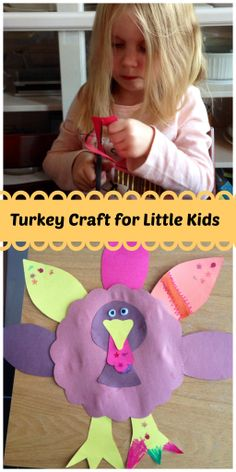 Turkey Craft for Kids: Big and Little - Family Food And Travel #craft #Thanksgiving
