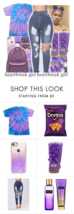 """⬜puple contest⬜"" by geazybxtch24 ❤ liked on Polyvore featuring Casetify, UGG Australia, Victoria's Secret and MCM"