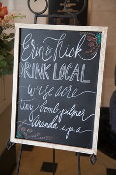 Bar sign by Southern Event Planners.