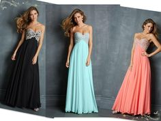 A Line Sweetheart Floor Length Chiffon Cheap Prom Dresses