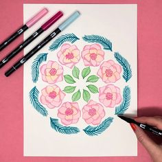 Blending Dual Brush Pens With Water by Jessica Mack on behalf of Tombow Tombow Markers, Tombow Usa, Brush Pen, Watercolor Paintings, Watercolour, Hand Lettering, Create Yourself, Illustration Art, Arts And Crafts