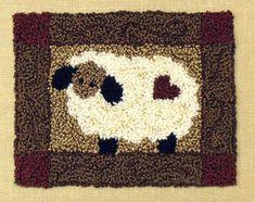 Free Primitive Sheep Pattern | ... primitive punch needle designs patterns kit sheep sku pnr sheep
