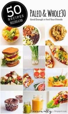 50 whole30 and paleo recipes. All recipes are gluten and dairy free!