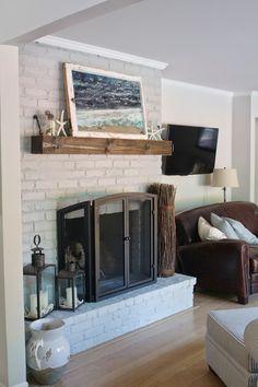 Wall Color: Behr 'Silver Drop' ~ Fireplace Color: Benjamin Moore 'Metropolitan' - simply organized