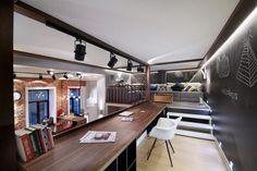 egyedi megoldások, loft lakás galériával