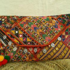 Banjara Patchwork Clutch Bag $40 available at www.kutchbanjarahandicrafts.com