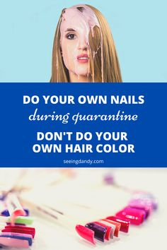Say no to the DIY hair color! DIY nails are perfect fine for during quarantine though. Especially when DIY gel nails are so easy to do. Curled Hairstyles, Diy Hairstyles, Hairstyle Ideas, Black Hairstyle, Diy Beauty, Beauty Hacks, Beauty Guide, Diy Nails Color, 55 Year Old Woman