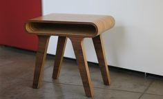 Stripes End Table - Walnut