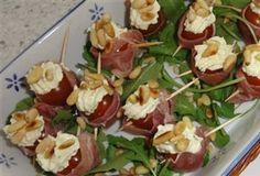 Cherrytomaatjes met Boursin en Serrano ham