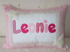 Kuschelkissen in rosa/ pink mit  Sternen aus Teddy von Straw and Berry auf DaWanda.com