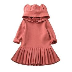 "Bergamotco Boutique on Instagram  ""The rabbit hoodie dress is just simply  adorable and comfy 😍😎 Search  Rabbit  hoodieforbabies  rabbithoodie ... 3307ec1e6"