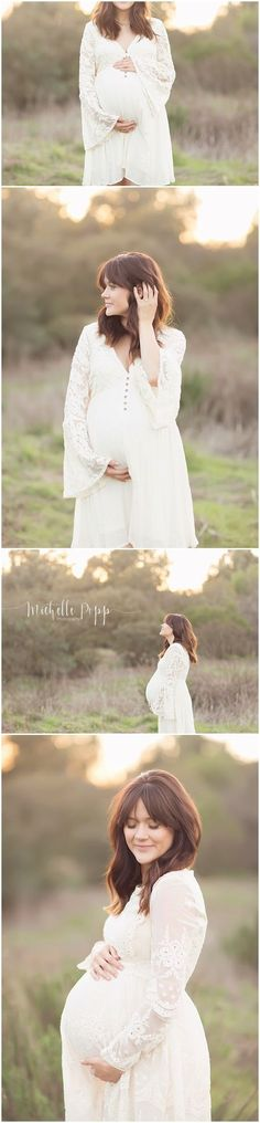 So dreaming and sweet. I'd like my maternity photo shoot to look a lot like this.