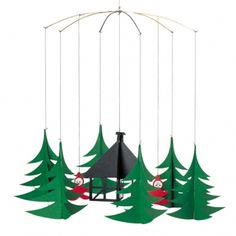 Pixies in the Christmas Forest, a mobile from Flensted in Denmark.