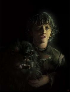 Rickon Stark and his direwolf Shaggydog.        Hopefully the future Lord of Winterfell and Warden of the North. Maybe make Jon, Lord of the Dreadfort.