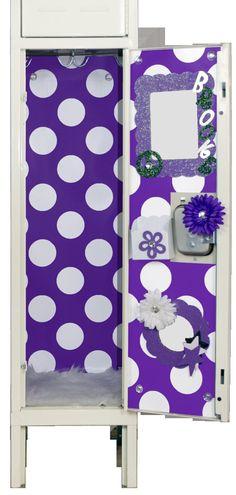 Purple & White Polka Dot Locker Wallpaper