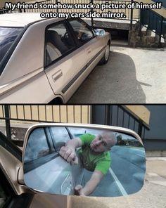 car pranks The best picture for a car side mirror // funny pictures - funny photos - funny images - funny pics - funny quotes - Good Pranks, Funny Pranks, Funny Jokes, Funny Cars, Kids Pranks, Camp Pranks, Funny Office Pranks, Roommate Pranks, Jokes