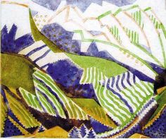 Grosvenor School. Claude Flight. Swiss Mountains from c1934