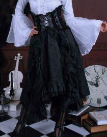 Jupe gothique victorienne noire RQ-BL