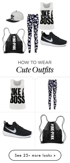 """""""cute outfit"""" by emmarald12 on Polyvore featuring WearAll, NIKE and adidas"""