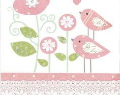 Items similar to Bird Nursery Art Print Set, Blue and Red Bird on a Wire Baby Art Print and Nursery Wall Art Prints Baby Boy Room Decor A165abc on Etsy