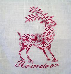 Little Reindeer Cross-stitch by Princes Milady, via Flickr