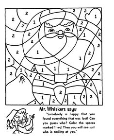 christmas worksheets   Christmas Activity Pages - Christmas Santa color by number Activity ...