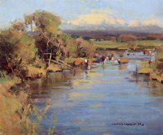 """""""Cows on the Teton"""" by Scott Christensen"""