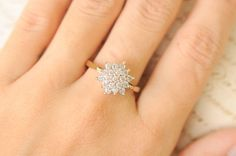 1970's vintage / 0.5 Carat diamond engagement ring by ErinAntiques