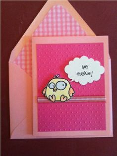 """Birthday or Any Day Card """"Hey Chickie!"""""""
