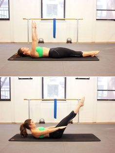 Pilates move for flat abs: the one hundred