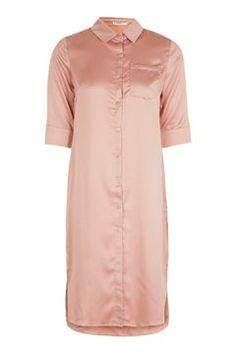 **Tie Waist Midi Shirt Dress by Glamorous Petites
