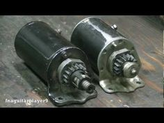 How to rebuild a Briggs and Stratton starter motor (replacing bottom end cap assembly) - YouTube