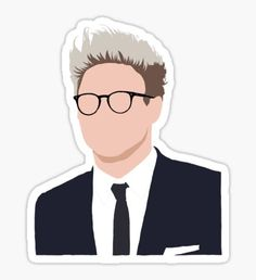 Arte One Direction, One Direction Drawings, One Direction Pictures, Tumblr Stickers, Cool Stickers, Printable Stickers, Laptop Stickers, Niall Horan, Imprimibles One Direction