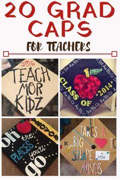 20 Grad Caps for Future Teachers - Graduation Cap ideas for future educators! Need a graduation cap idea? Our list of the 20 best grad caps for teachers will help you find the make the best grad cap for you!