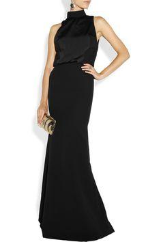 Victoria Beckham Crepe and matte-satin gown NET-A-PORTER.COM