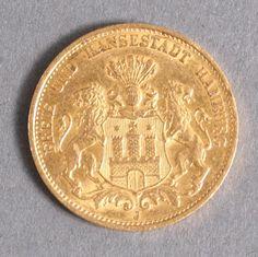 20 Gold mark Hamburg 1895 empire weight 7.965 Gr. By 900er fineness.    Dealer  Badisches Auktionshaus    Auction  Minimum Bid:  200.00EUR