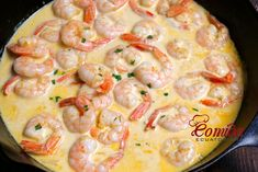 Camarones ecuatorianos al ajillo Shrimp Recipes, Snack Recipes, Cooking Recipes, Healthy Recipes, Dominican Food, Slimming Recipes, Tasty, Yummy Food, Enchilada Recipes