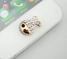 Bling Crystal Cute Fish iPhone Home Button Sticker, phone charm accessary for iPhone 4/4s, iPhone 5, iPad, gift box on Etsy, $3.90
